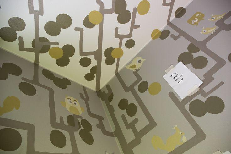 Pojan huoneen seinällä kasvaa Tahto&Keinon Amanda Suonvierin taidetta. #asuntomessut #yitasuntomessut #asuntomessut2014 #yitviherperhe