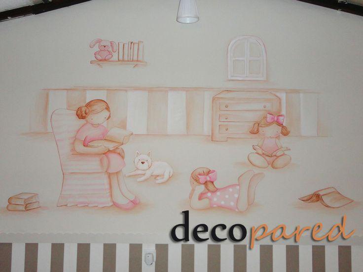 Mural infantil cuarto de juegos murales infantiles - Murales para habitacion ...