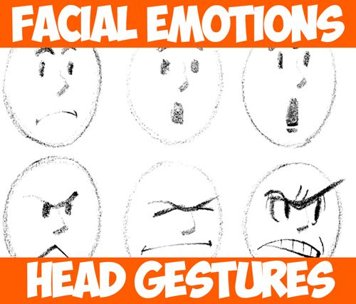 how to draw emotions in cartoons