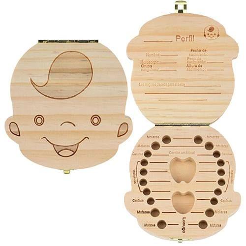 Caja de madera para dientes de leche - Niño http://www.milideaspararegalar.es/producto/caja-madera-dientes-leche-nino/
