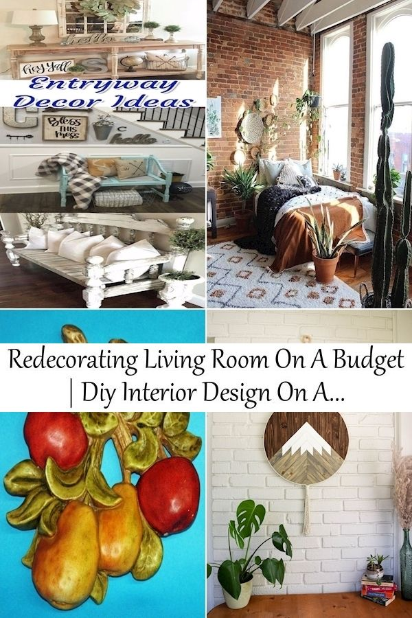 Redecorating Living Room On A Budget Diy Interior Design On A Budget Redecorating Ideas In 2021 Interior Design Diy Living Room On A Budget Decorating On A Budget