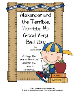 alexander and the no good very bad day writing activities