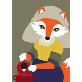 ansichtkaart mingface - het melkvosje (melkmeisje)   Muller wenskaarten   online kaarten en cadeautjes bestellen