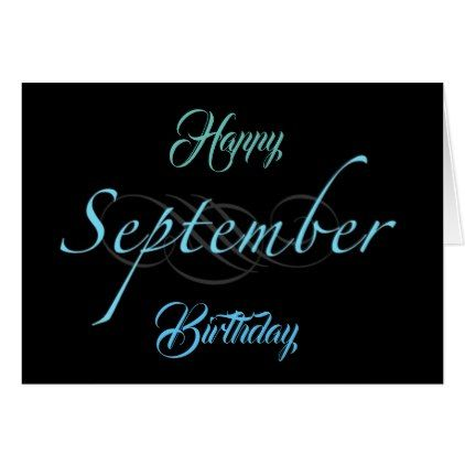 HAPPY SEPTEMBER BIRTHDAY TO YOU CARD - teenager birthday gift idea present teens party