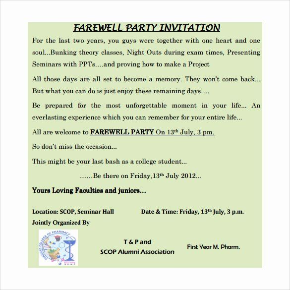 Farewell Party Invitations Templates Lovely Sample Farewell Invitation Template 8 Download Farewell Party Invitations Tea Party Invitations Party Invitations