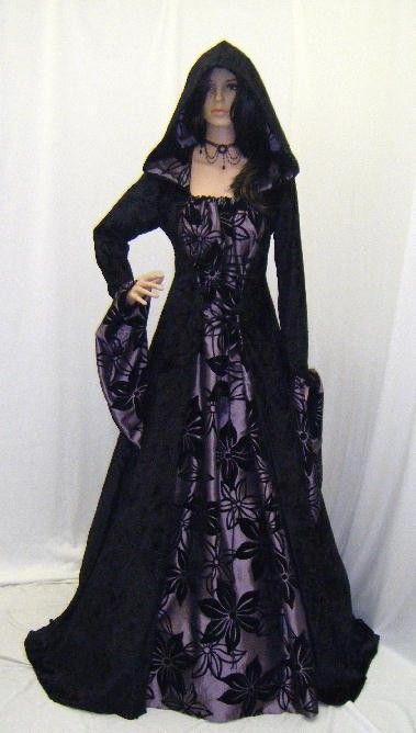 Gowns Pagan Wicca Witch: Hooded Renaissance #gown.: