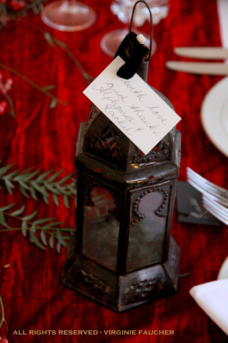 The Table Favours The Bride Chose Were Handmade Moroccan Lanterns, Each One  With A Name
