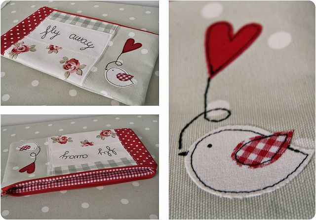 fly away pouch by countrykitty, via Flickr