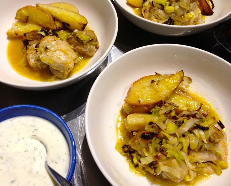 Roasted Chicken and Potatoes with Garlic Yoghurt