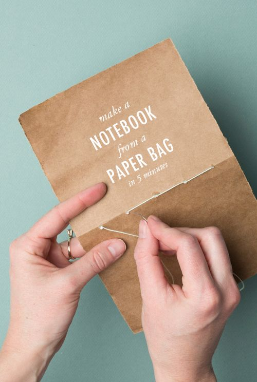 How to Make a Notebook from a Paper Bag