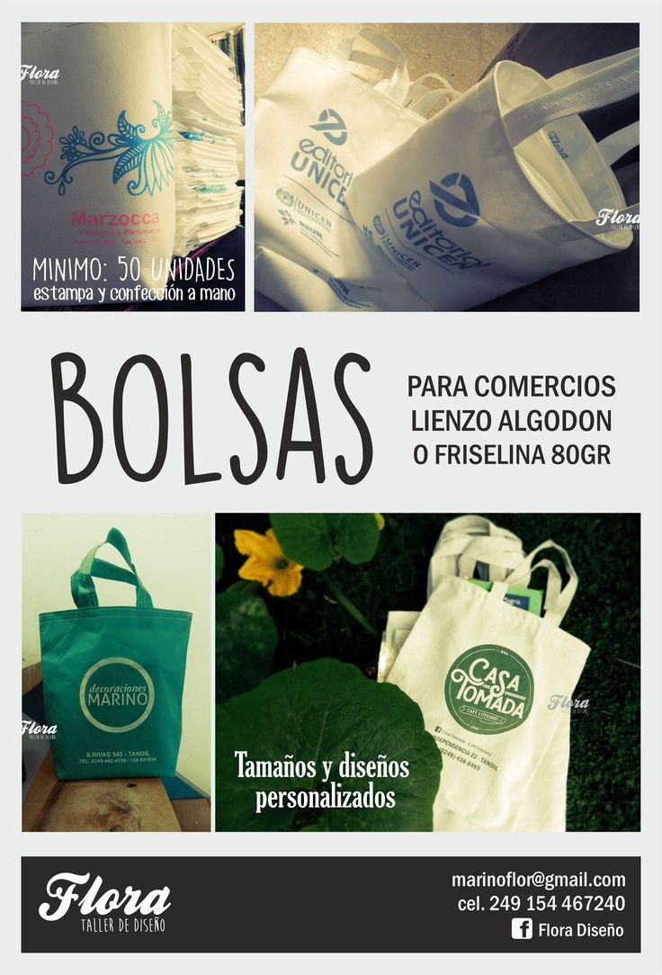Flyer Bolsas Flora Diseño - Tandil