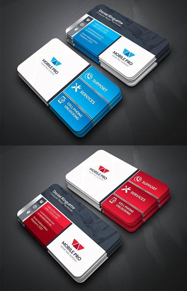 Mobile Repair Business Card Glossy Business Cards Business Cards Creative Modern Business Cards