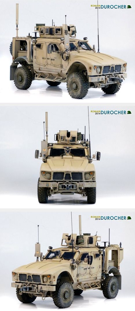 scale :1:35 Author : Romain Durocher M-ATV by Panda Hobby + Voyager Photoetched (turret and details), Def wheels, Et Model (antenna), Afv club (details), Bronco stuff ...