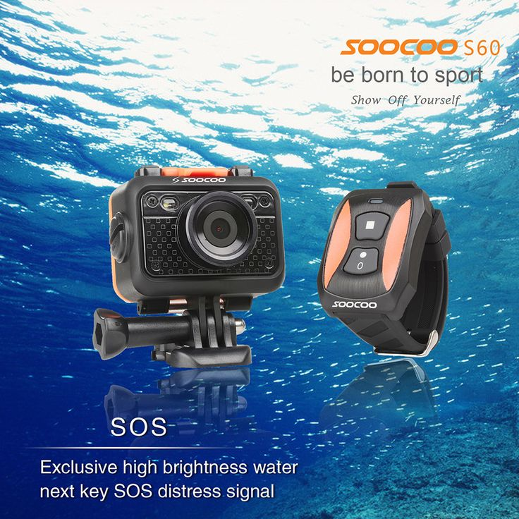 SOOCOO S60 UnderWater 60M  SOS Flash 170 Angle HD 1080P WIFI Sport Video Camera with Remote Controller