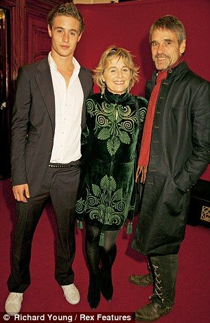 Max Irons and his parents, Sinead Cusack and Jeremy Irons