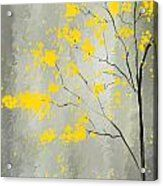 Yellow Foliage Impressionist Acrylic Print by Lourry Legarde