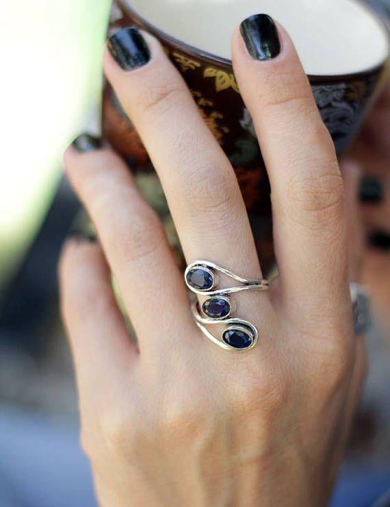 Lapis lazuli ring beautiful ring ring dark blue stone