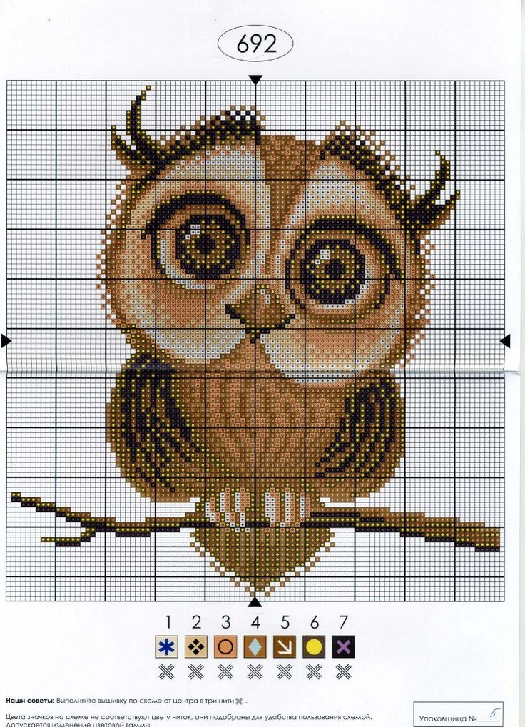 chouette-owls-cross stitch-point de croix-embroidery