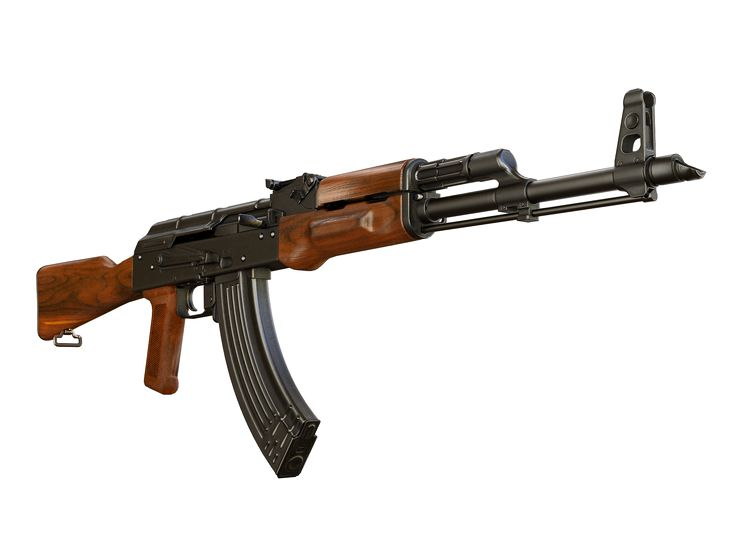 Kalashnikov rifle modernized from Weapons of Heroes game https://weaponsofheroes.com