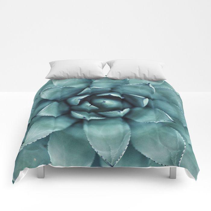 Aloe Green Comforters by greennatural | Society6