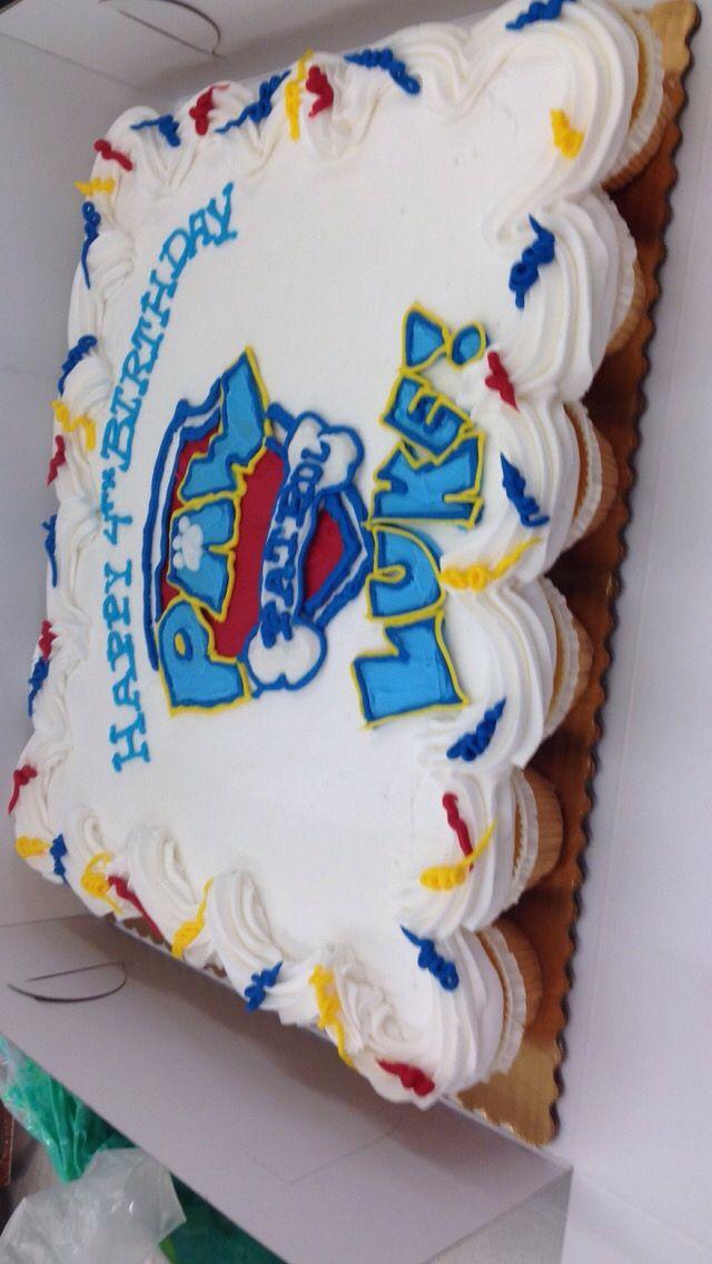 Paw patrol cupcake cake                                                                                                                                                                                 More