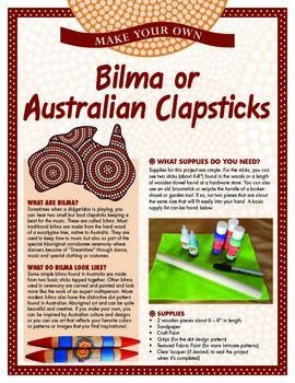 Discover the special rhythm sticks used in Australian Aboriginal music - often keeping time for the didgeridoo! An easy MYO craft lets you create your own and explore the beautiful and distinct art traditions of Australia.