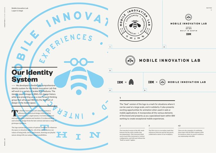 Great use of brand guidelines to display style