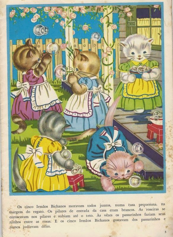 Livro Infantil Cinco Irmãos Bichanos
