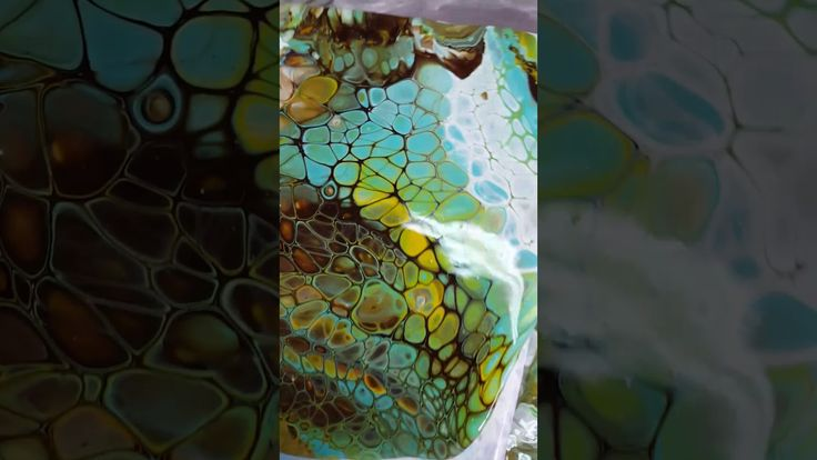 how to make cells in acrylic pour site youtube.com