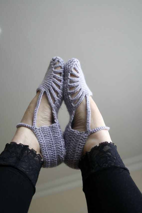 Free Shipping Silver Grey Slippers Mothers Day Gift by denizgunes, $35.00. shoes, cute, purple.