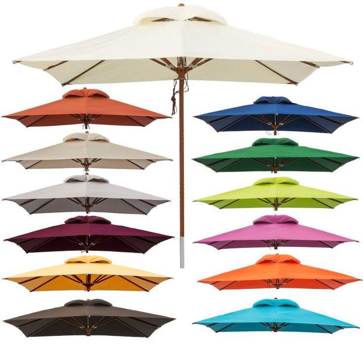 anndora® Sonnenschirm Gartenschirm Marktschirm 3x3 m eckig Winddach Farbauswahl