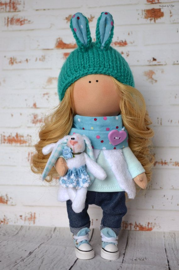 Blonde doll Interior doll Home doll Art doll by AnnKirillartPlace