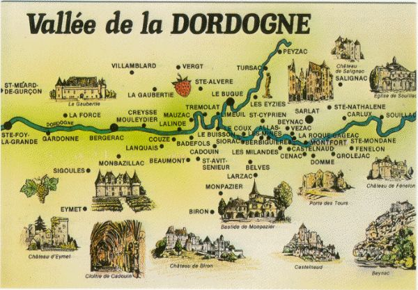 Dordogne-Map