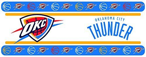 Oklahoma City OKC Thunder Wall Border, NBA, Matches Bedding & Comforter, NEW, Peel and Stick, Basketball  Team - Oklahoma City OKC Thunder  NBA Wall Border  Size: 5 in. x 15 ft. per roll  (use drop down to select the number rolls)
