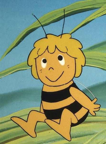 "Maya the Bee - had the best theme song, ""There is a land of little bees...and if you ask her for her name she'll say it's Maya... Maya everyone loves Maya..."""