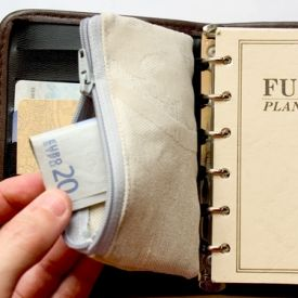 Step by step photo tutorial how to make a quick and easy Filofax wallet