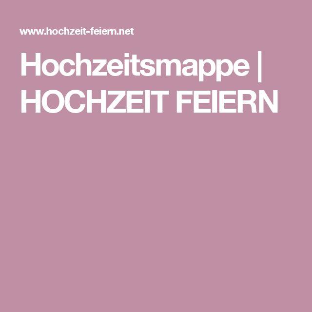 Hochzeitsmappe | HOCHZEIT FEIERN