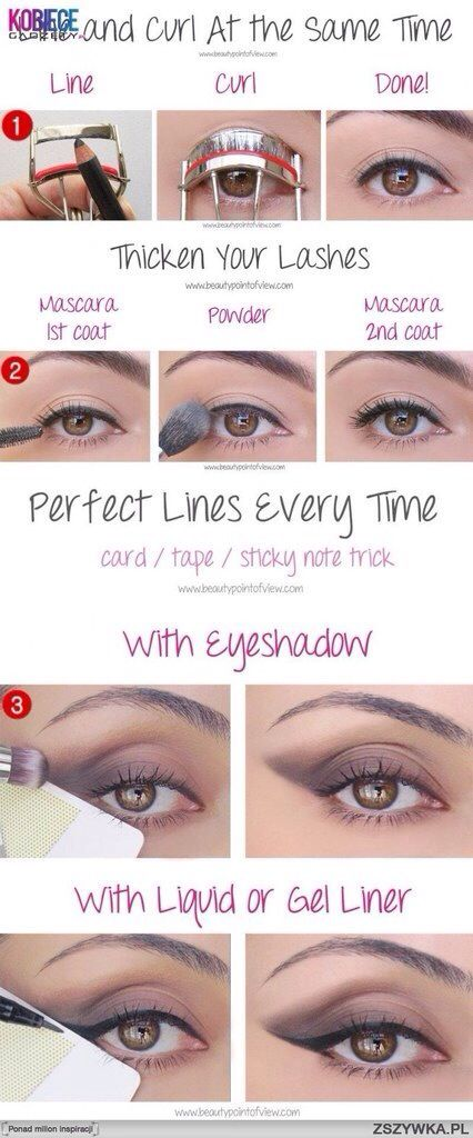 #Beautyhack- Apply mascara and eyeliner at the same time.