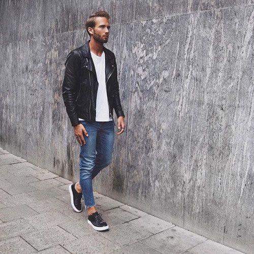 2015-11-20のファッションスナップ。着用アイテム・キーワードは30代, スニーカー, ダブルライダースジャケット, デニム, ライダースジャケット, Tシャツ,etc. 理想の着こなし・コーディネートがきっとここに。  No:131245