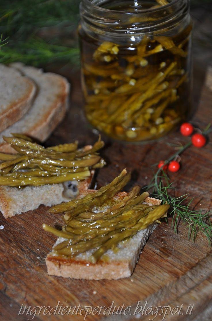 L'ingrediente perduto: Conserva agrodolce di asparagi selvatici