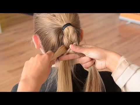 ▶ Minicursus haar invlechten 1 Pistooltechniek - YouTube