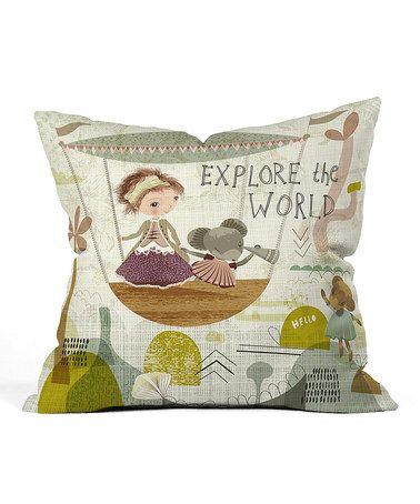 Look what I found on #zulily! Sabine Reinhart 'Explore the World' Throw Pillow #zulilyfinds