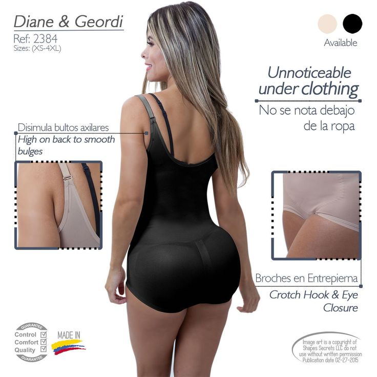 Diane And Geordi 2384, Faja Colombiana,Reductora De Latex, Shapewear,Compression