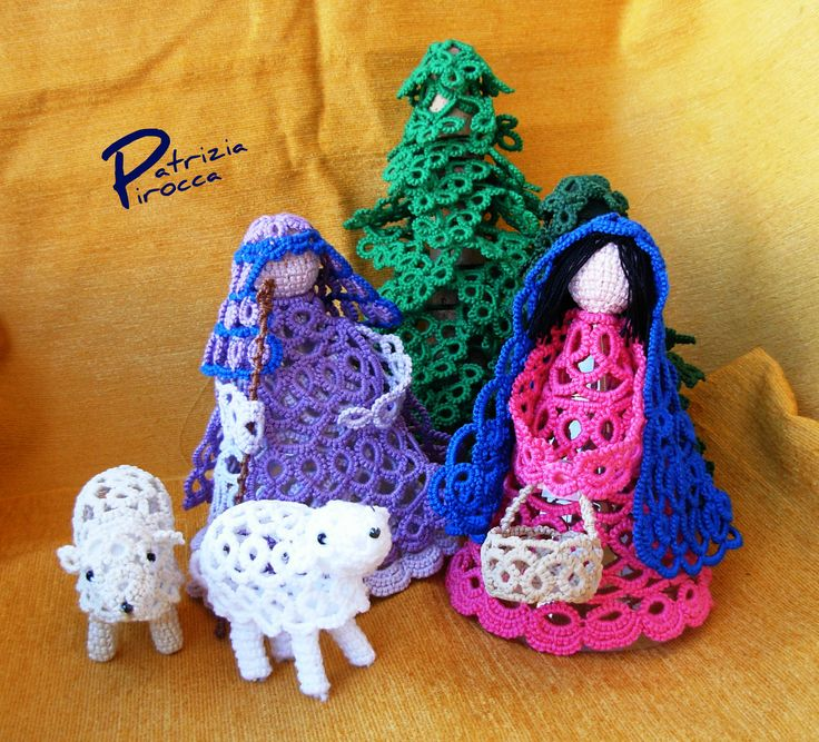 Knitting Patterns Nativity Free : 629 best images about Tatting : Christmas & Holiday on ...