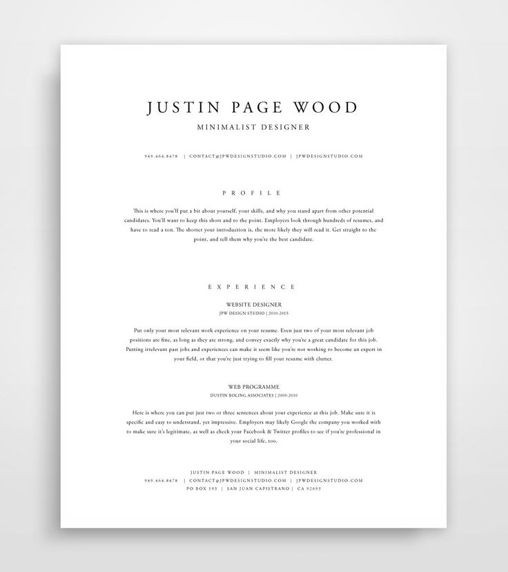 simple resume template professional best pages mac apple for store