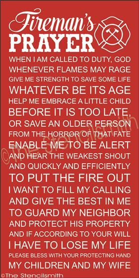 2296 - Fireman's Prayer