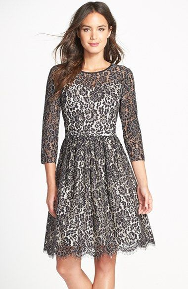 Eliza J Lace Fit & Flare Dress available at #Nordstrom