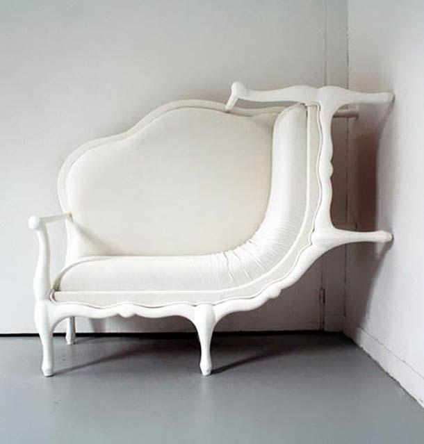 Décorateur intérieure / mobilier / Design / Blanc / Fauteuil louis xv revisité / Original / insolite / baroque                                                                                                                                                     Plus                                                                                                                                                                                 Plus