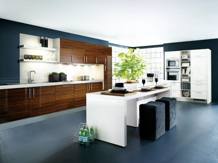 The Perfect Design for Small Kitchen with Great Looks: Exciting Modern Kitchen With White Island And Wooden Cabinets For Small Modern Kitchens Ideas ~ workdon.com Kitchen Design Inspiration