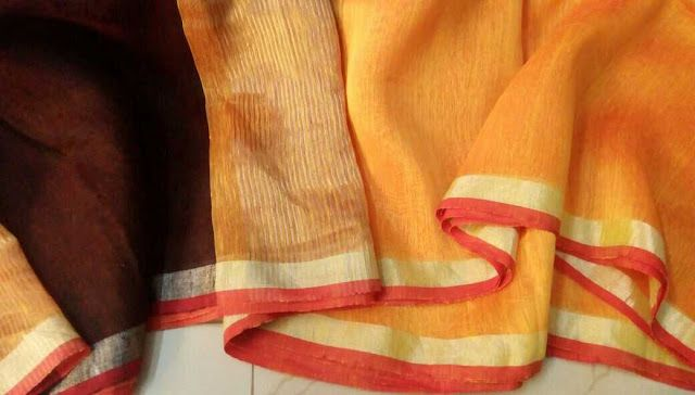Pure Lenin Silk Sarees | designer  Online Lenin Silk Sarees | to buy WhatsApp on 9703713779